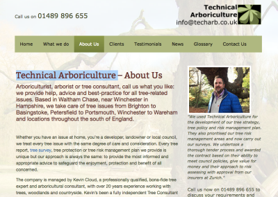 Website Copywriting for Tree Consultancy