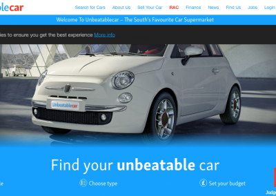 Website Copywriting for Unbeatable Car