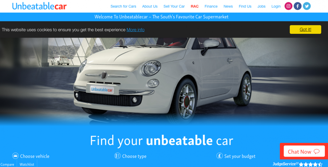 Website Copywriting for Unbeatable Car